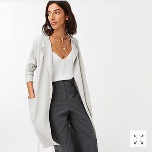 J.Crew Juliette collarless sweater-blazer Gray